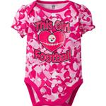 Pittsburgh Steelers Pink Heart Camo Onesie